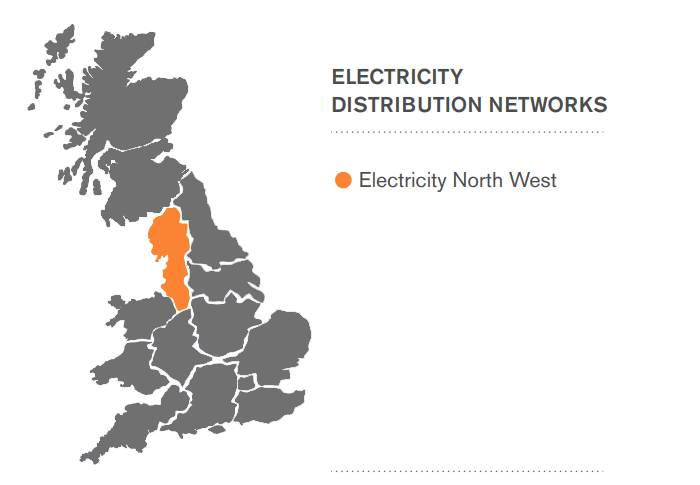 Electricity North West Area Map