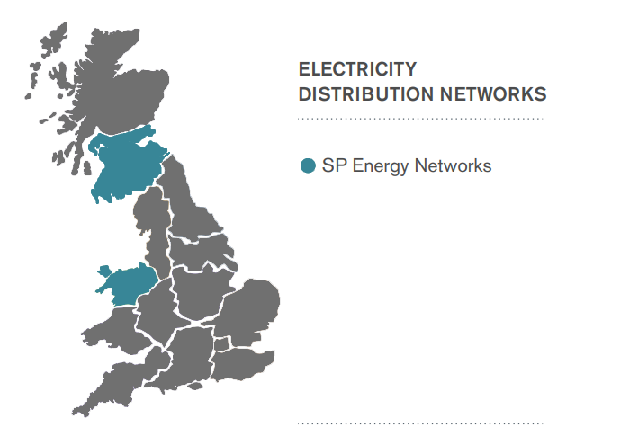 SP Energy Networks Area Map
