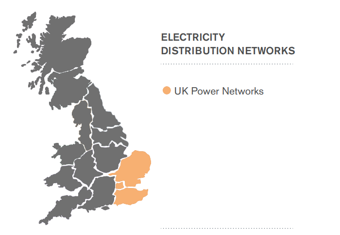 UK Power Networks Area Map