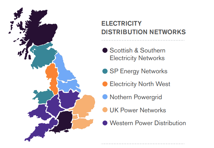 Electricity Distribution Networks Map