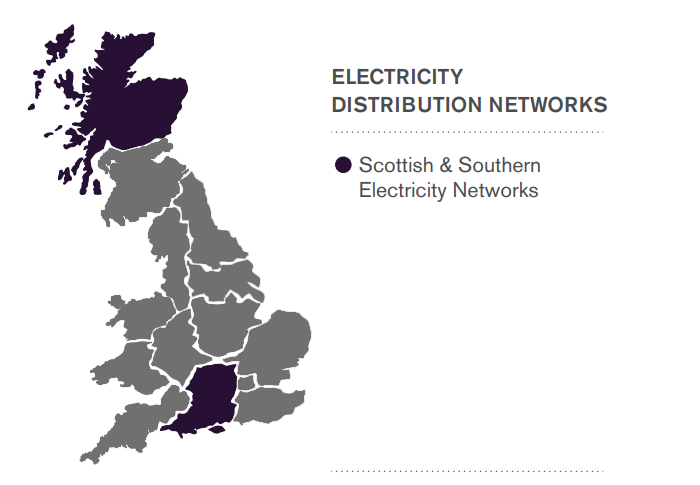 Scottish and Southern Electricity Area Map