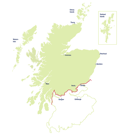 SSE Supply Area in Northern Scotland