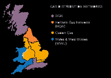 Cadent Gas Supply Area Map